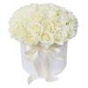 Цветы в коробке «Белые Розы»