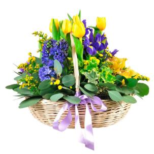 """Цветы в корзинке """"Прекрасное начало"""""""